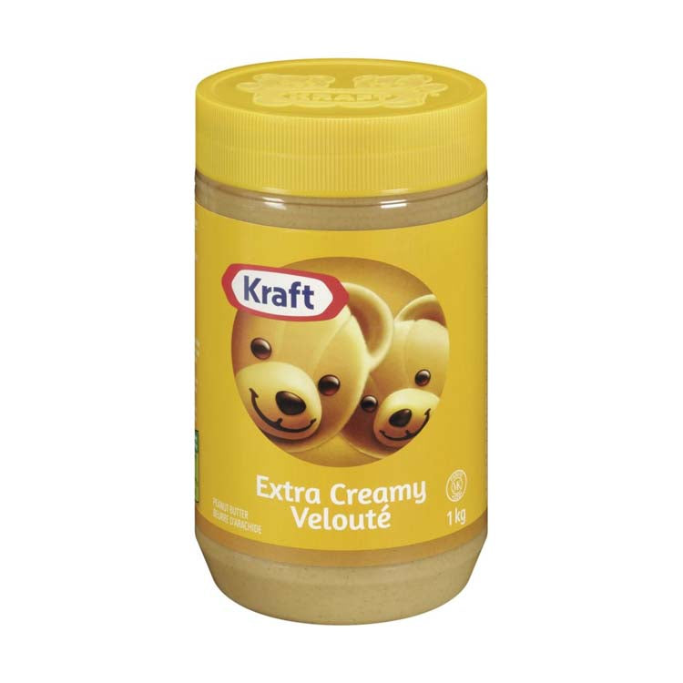 Kraft Extra Creamy Peanut Butter Spread 1kg/2.2lb Container