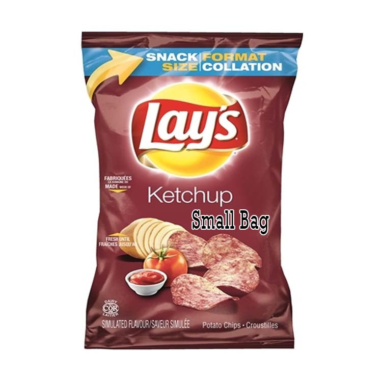 Small Snack Sized Lays Ketchup Potato Chips Bag