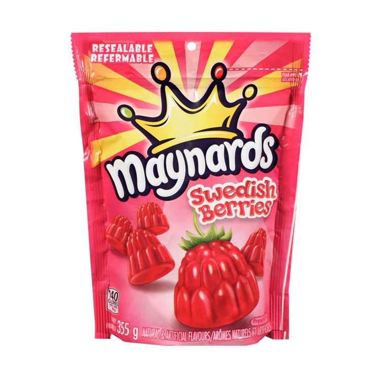 Maynards Swedish Berries 355g/12.5oz Resealable Bag