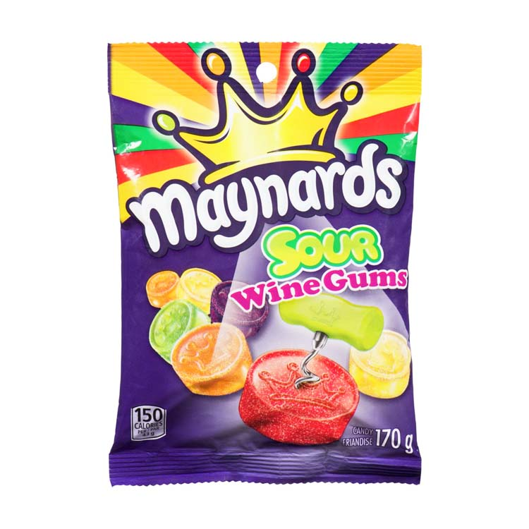Maynards Sour Wine Gums Candy 170g/5.9 oz Bag