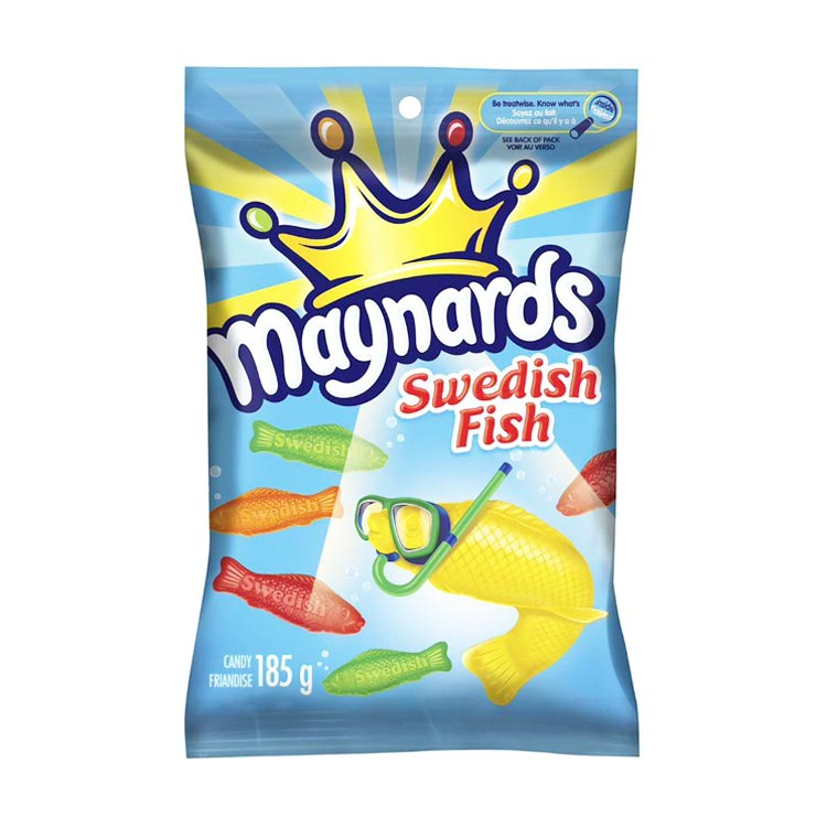 Maynards Swedish Fish Gummy Candy 185g/6.5oz Bag