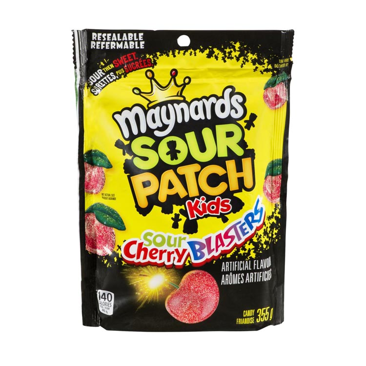 Maynards Sour Patch Kids Sour Cherry Blasters 355g/12.5oz Resealable Bag