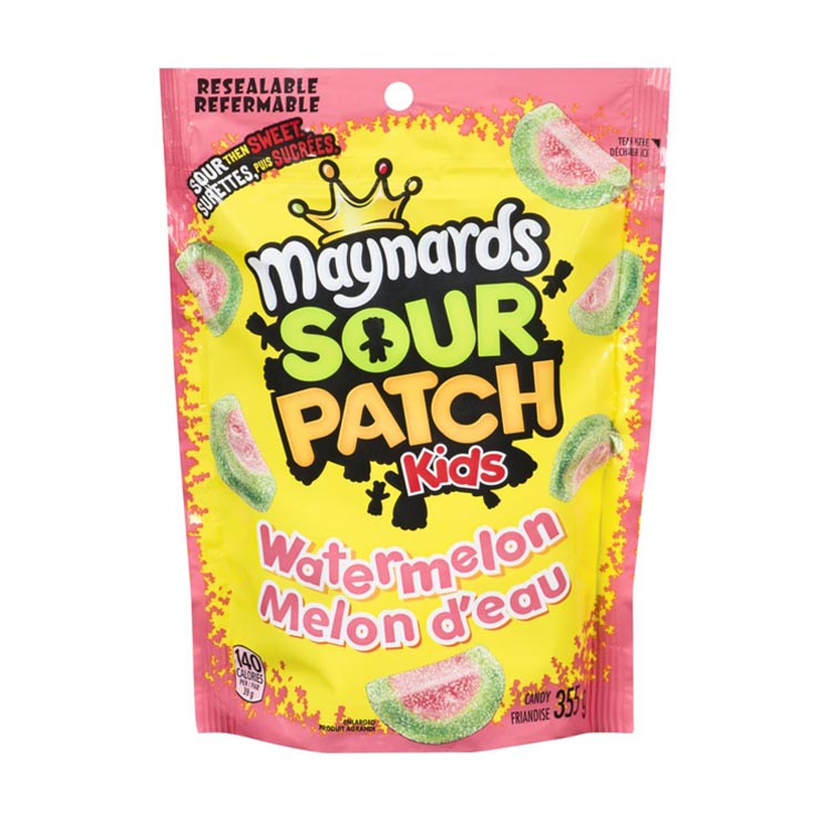 Maynards Sour Patch Kids Watermelon Mini Wedges 355g/12.5oz Resealable Bag