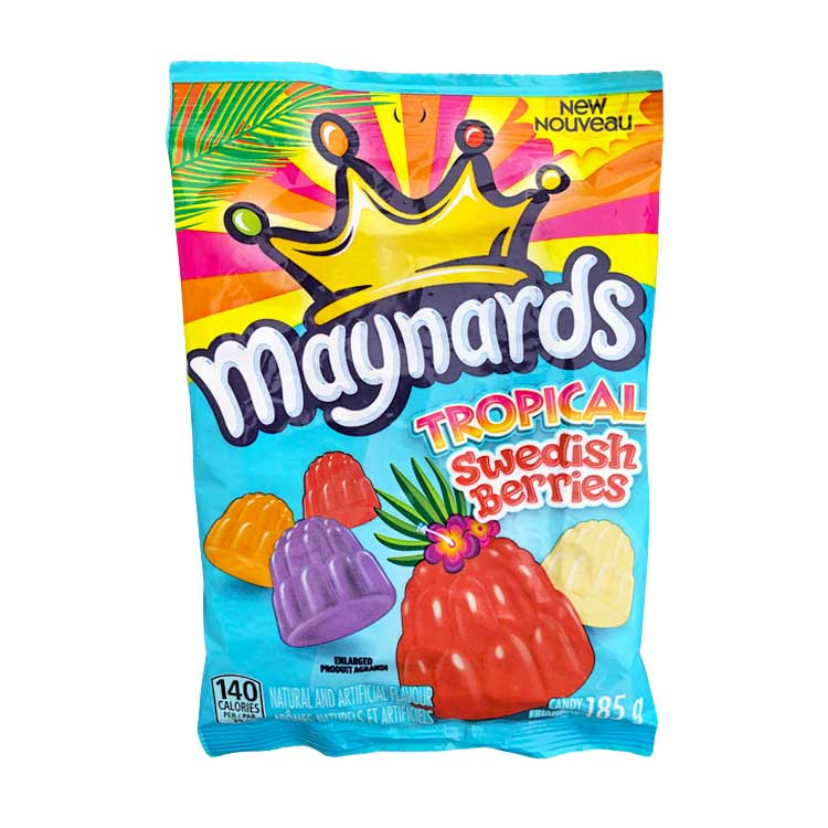 Maynards Tropical Swedish Berries Gummy Candy 185g/6.5oz Bag