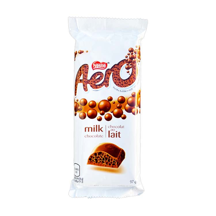 Nestle Aero Milk Chocolate 97g/3.4oz Bar