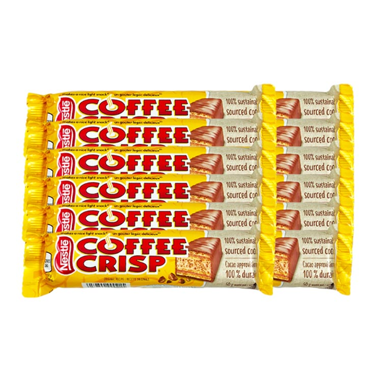 Nestle Coffee Crisp Chocolate Candy 50g/1.7 oz Bar
