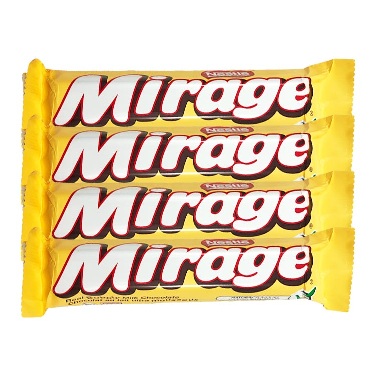 Nestle Mirage Chocolate 41g/1.5oz Bar (4 Pack)