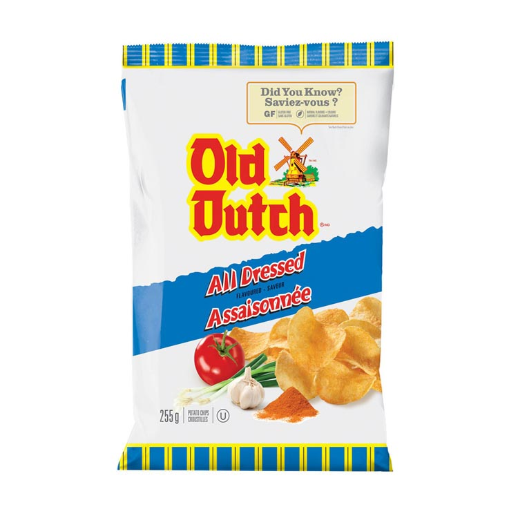 Old Dutch All Dressed Potato Chips 255g/8.9oz Bag