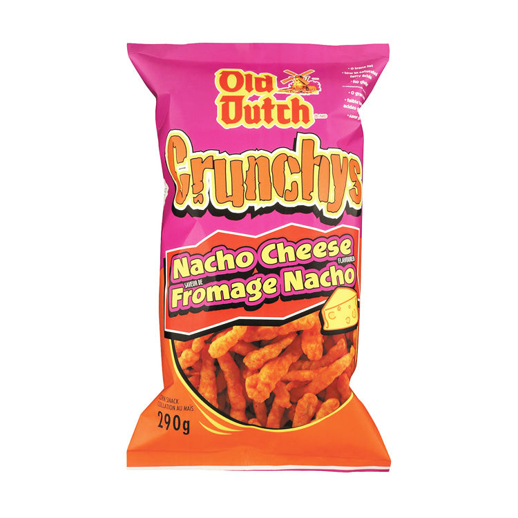 Old Dutch Crunchys Nacho Cheese 290g Bag