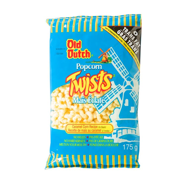 Old Dutch Popcorn Twists Snacks 175g/6.1oz Bag