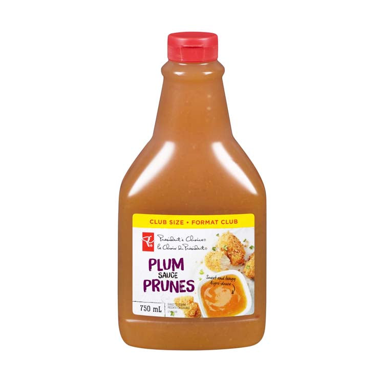 Presidents Choice Plum Dipping Sauce 750ml/25.3 oz Bottle