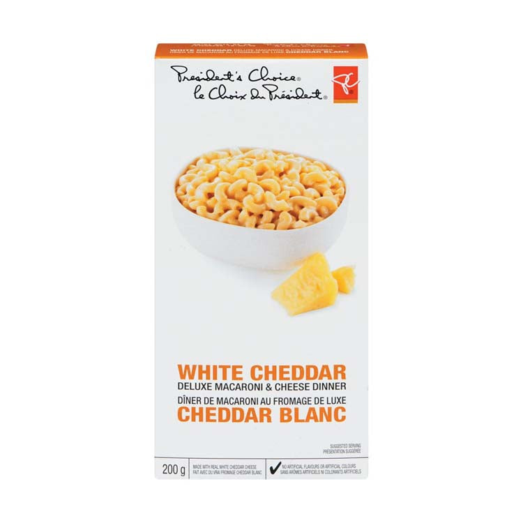 Presidents Choice White Cheddar Macaroni And Cheese 225g/7.9 oz Box