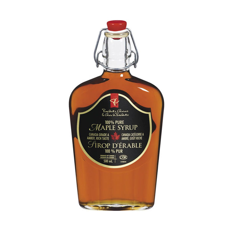 President's Choice Pure Syrup Maple 500mL Glass Bottle