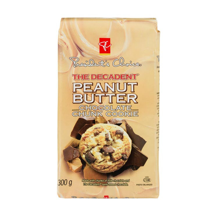 Presidents Choice The Decadent Peanut Butter Chocolate Chunk Cookie 300g/10.5oz