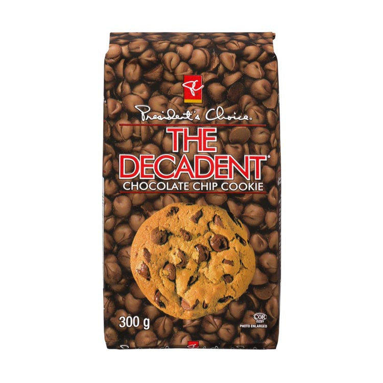Presidents Choice The Decadent Chocolate Chip Cookie 300g/10.5oz