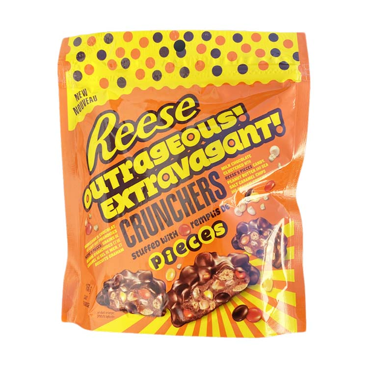 Reeses Outrageous! Crunchers Stuffed With Pieces 160g/5.6oz Bag