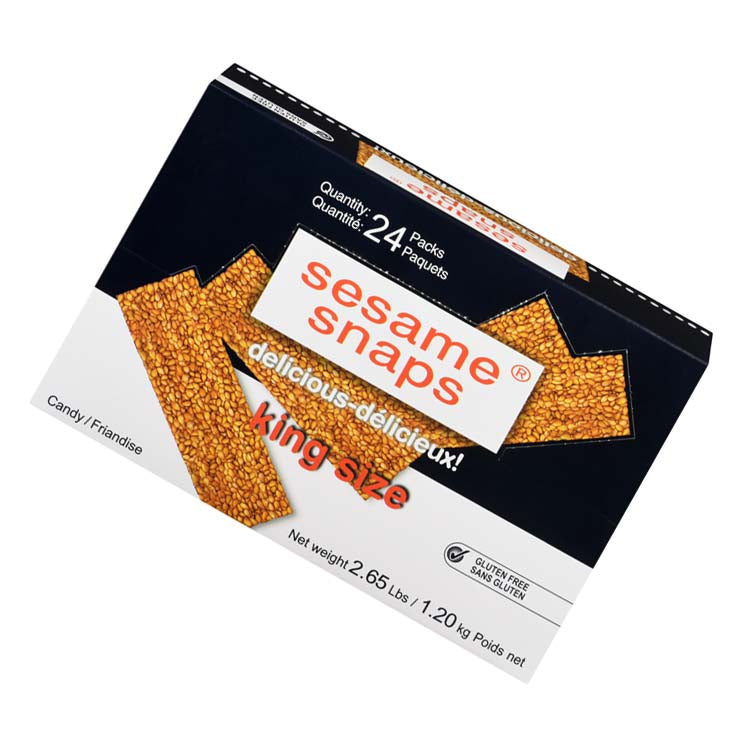 Sesame Snaps Candy Wafers 1.2kg/2.6lbs (24 Packets)