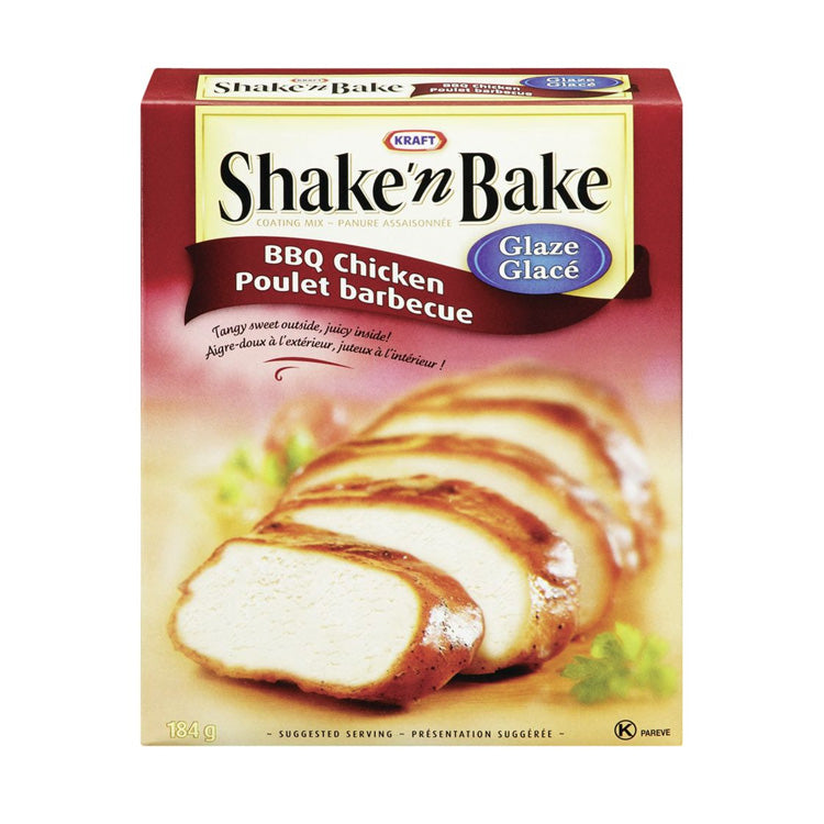 Kraft Shake'n Bake BBQ Chicken Glaze 184g/6.5oz Box