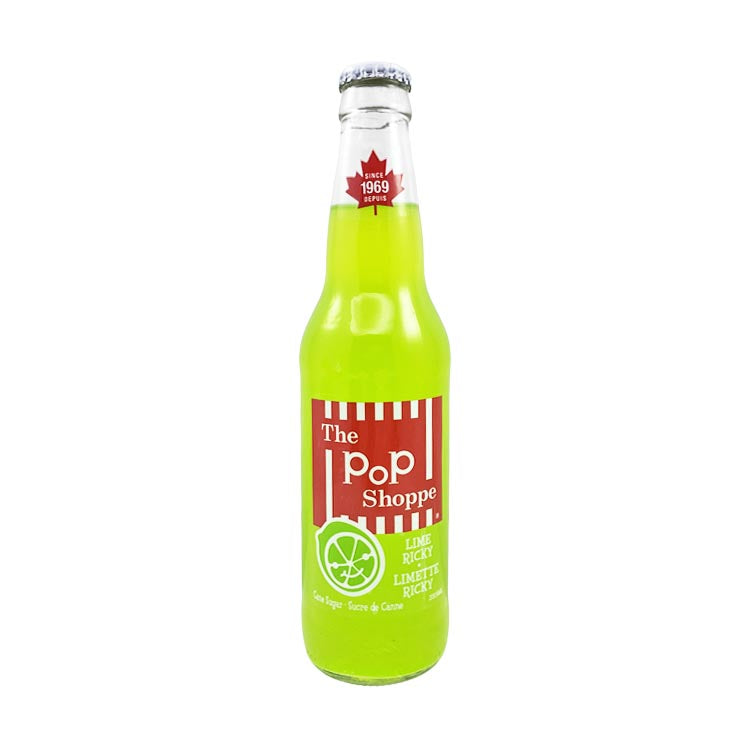 The Pop Shoppe Lime Ricky Soda 355mL/12oz Bottle