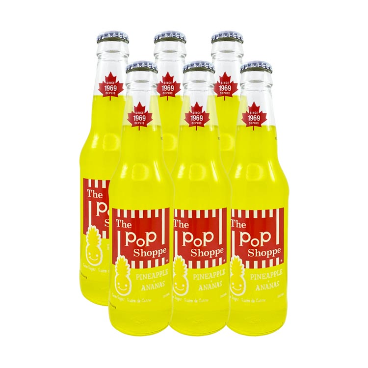 The Pop Shoppe Pineapple Soda 355mL/12oz Bottle