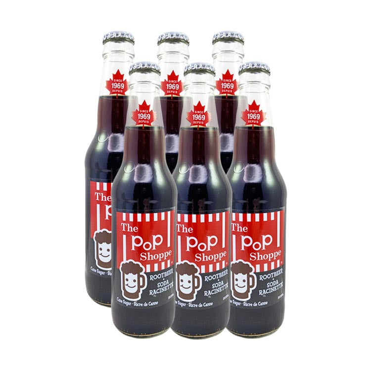 The Pop Shoppe Root Beer Soda 355mL/12oz Bottle