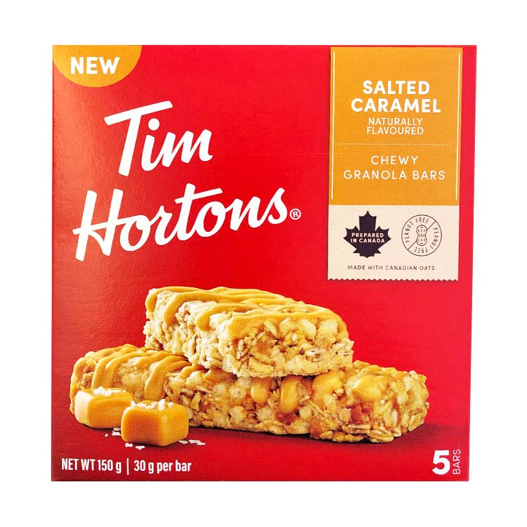 Tim Hortons Salted Caramel Granola Bar 150g/5.2oz Box