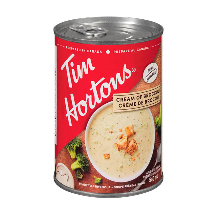 Tim Hortons Cream Of Broccoli Soup 540mL/18.3oz Can