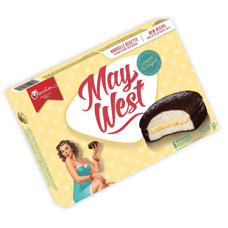 Vachon May West Cream-filled Sponge Cakes 324g/11.4oz Box