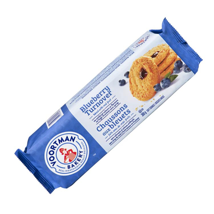 Voortman Blueberry Turnover Soft Baked Cookies 300g/10.5oz Package