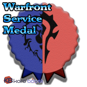 buy wow boost service Warfront Service Medal Boost
