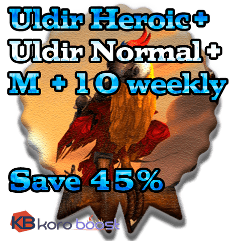 buy wow boost service Uldir Heroic + Uldir Normal + 10 weekly Chest Bundle