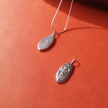 Load image into Gallery viewer, Front and back of this pendant shown here