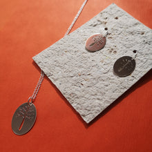 Load image into Gallery viewer, Tree Necklace shown with tree earrings, also available, check my shop for details