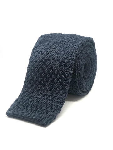Polyester Knitted Tie Navy