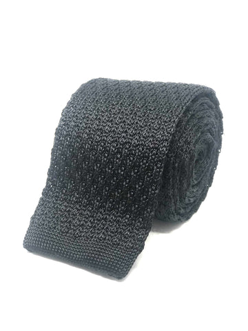 Silk Knitted Tie Black