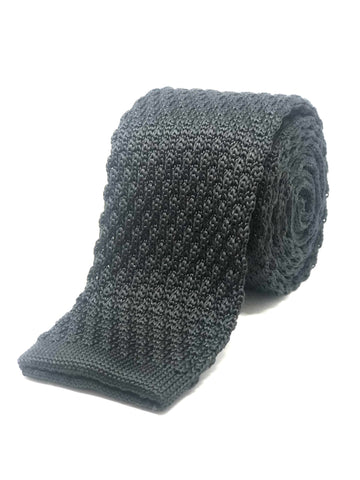 Polyester Knitted Tie Black
