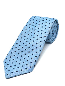 Soft Touch Spotted Light Blue Tie