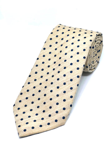 Soft Touch Spotted Light Ecru Tie