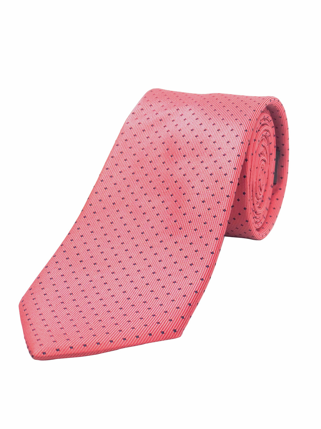 Coral and Diamonds Tie