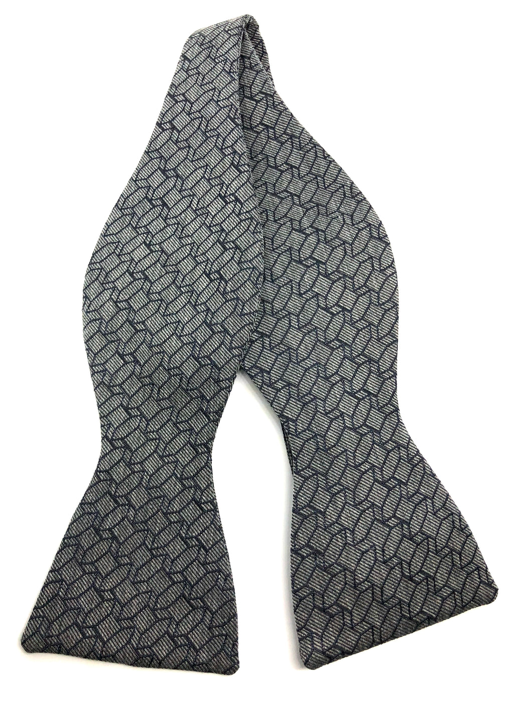 Causeway Marled Self-Tied Bow Tie - Grey