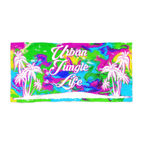 Liquid rainbow ink UJL Beach Towel