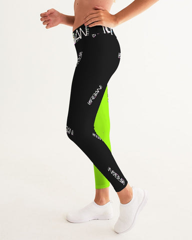 2way lime/black Women's Yoga Pants
