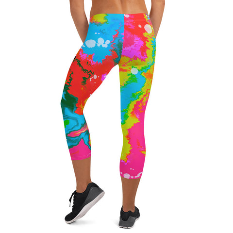 Liquid ink Capri Leggings
