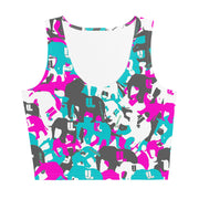 Her teal berry elephatigue Cut & Sew Crop Top