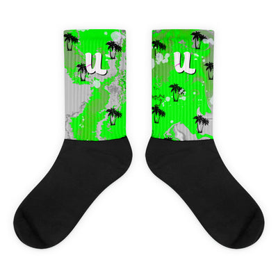 Tropical Green Ink Socks