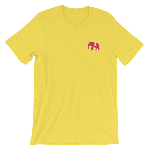 Classic STICHED pink Logo T-Shirt