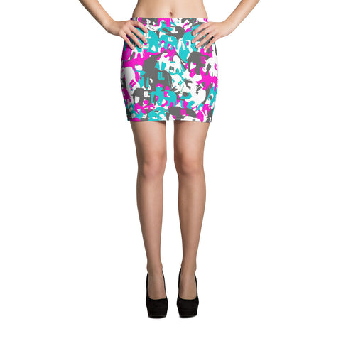 Her teal berry elephatigue Mini Skirt