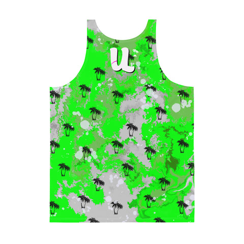 Tropical Green Ink Tank Top