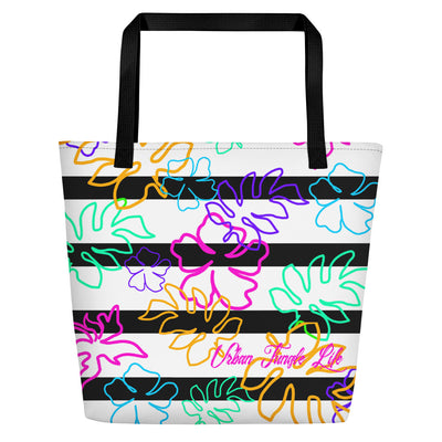Lady's Floral Beach Bag