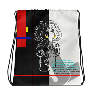 HUSS.. A DREAM drawstring backpack